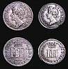 Maundy Set 1686 ESC 2381 Fourpence GVF, Threepence VF, Twopence NVF and Penny NVF