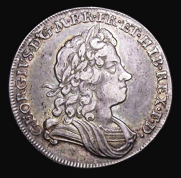 Halfcrown 1715 Roses and Plumes ESC 587 NVF/VF and attractively toned