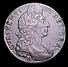 Halfcrown 1697B First Bust, Large Shields ESC 543 NVF the obverse with some thin scratches on the portrait