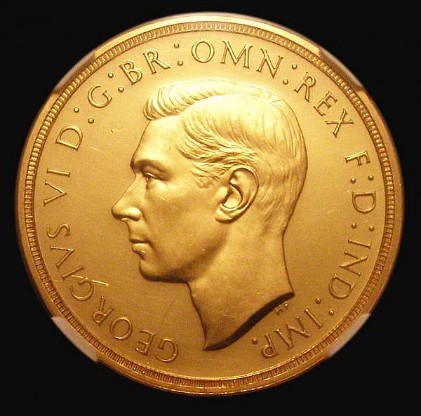 Five Pounds 1937 S.4074 Gold Proof NGC PF60