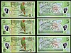 World Replacement notes in consecutive pairs Seychelles 10 Rupees 2013 ZZ031566 and ZZ031567 UNC, Cayman Islands 2006 series Z/1 018386 and Z/1 018387 UNC along with Fiji Five Dollars Polymer notes ZZA0186417 and ZZA0186418 and ZZA0229628 UNC