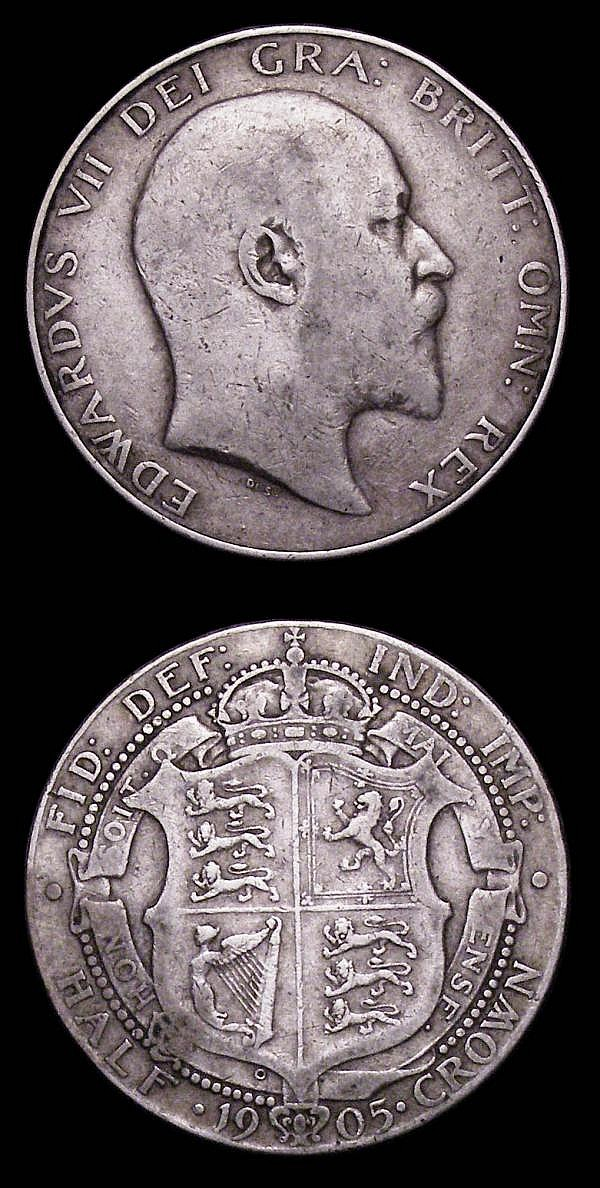 Halfcrowns (2) 1903 ESC 748, 1905 ESC 750 both VG and collectable, the two key dates in the series