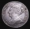 Shilling 1711 Third Bust ESC 1157 Near Fine/Fine, Very Rare, rated R4 by ESC