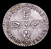 Sixpence 1697B First Bust, Later Harp, Small Crowns ESC 1155 NEF toned