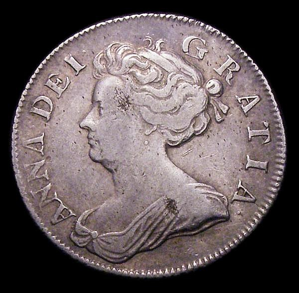 Shilling 1705 Plumes ESC 1135 Fine/Good Fine with some haymarking on the obverse