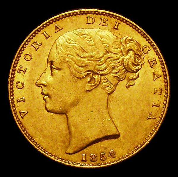 Sovereign 1854 WW Incuse S.3852D NEF