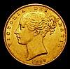 Sovereign 1854 WW Incuse S.3852D NEF
