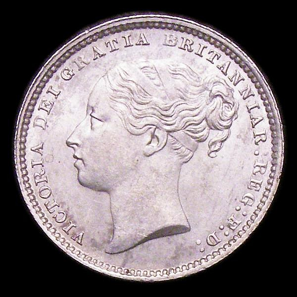 Shilling 1884 ESC 1343 UNC/AU the reverse with minor cabinet friction