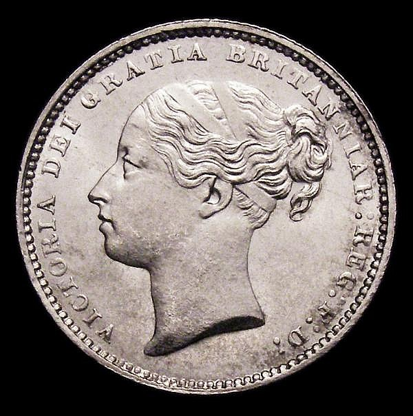 Shilling 1884 ESC 1343 Lustrous UNC with a small rim nick