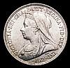 Shilling 1895 Small Rose ESC 1364, Davies 1017 dies 2C  GEF Rare