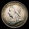 Shilling 1896 Small Rose ESC 1365A Davies 1019 dies 2C EF and attractively toned, Rare