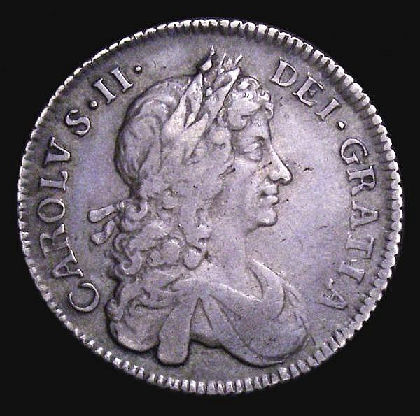 Shilling 1677 ESC 1050 GF with some weakness below the 77 of the date