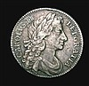 Shilling 1683 Fourth Bust ESC 1065 NVF/GF with a thin scratch on the bust, Very Rare, rated R2 by ESC, of just four examples we have offered since 2003, this is by far the finest: Cataloguers note, all Fourth Bust Charles II Shillings rare even in