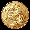 Sovereign 1886M George and the Dragon Marsh 108 GVF, slabbed and graded LCGS 50