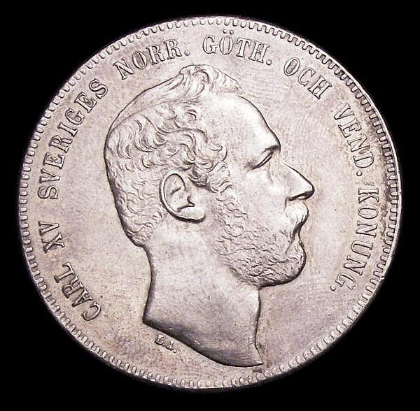 Sweden Riksdaler Specie (4 Riksdaler Riksmynt) 1869 ST EF KM711