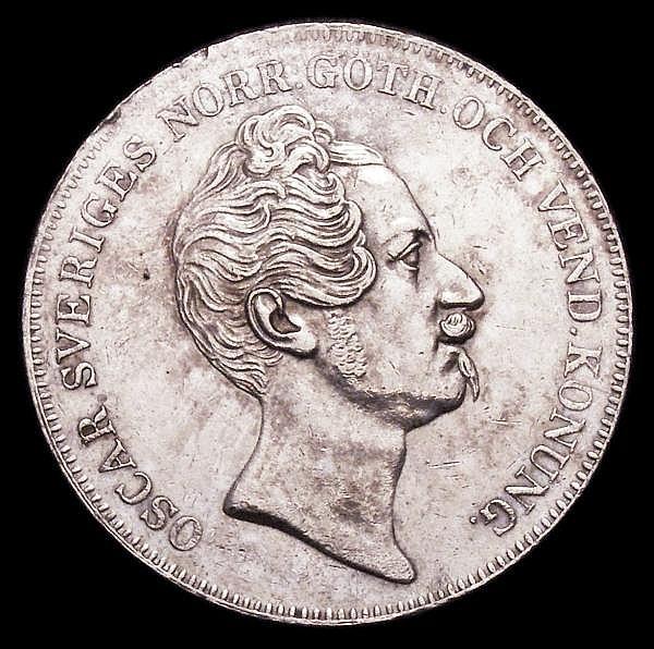 Sweden Riksdaler 1855 A.G. GEF KM667