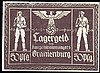 Germany Third Reich Concentration Camp currency 50 Pfennig Oranienburg, a collector's replica, VF