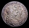 Halfcrown 1689 First Shield, No Frosting, pearls, ESC 507 Good Fine/Fine, nicely toned, the reverse with some haymarking