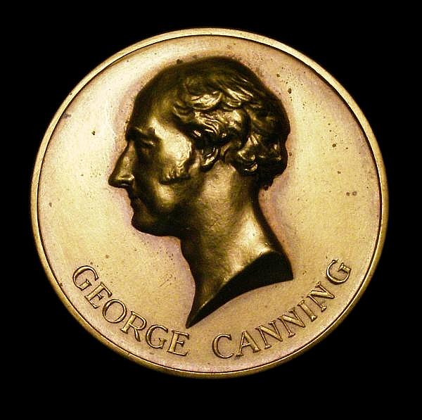 George Canning - Inauguration of the Monument Buenos Aires 4 December 1937 40mm diameter in gilt bronze EF