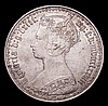 Florin 1878 ESC 849 Die Number 90 EF the obverse with some flecks of tone, the reverse retaining some lustre