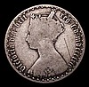Florin 1862 ESC 820 VG, the obverse with a scratch in the field, Rare