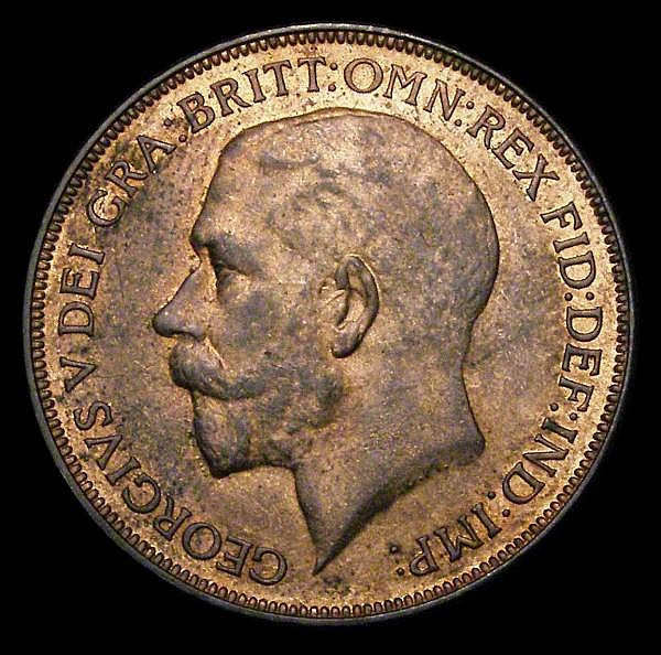 Penny 1926 First Head Freeman 193 dies 3+B UNC with traces of lustre and light cabinet friction