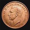 Penny 1946 ONE ' variety GEF and nicely toned, these normally only encountered in low grade, Very Rare in high grade