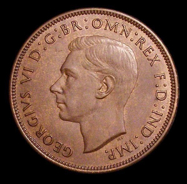 Penny 1946 as Freeman 233 dies 2+C with all four figures of the date clearly doubled, similar in style and clarity to the 1945 'doubled 9' variety A/UNC with a couple of small spots