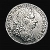 Shilling 1721 Roses and Plumes ESC 1171, Bull 1577 (8 strings to Harp) EF the obverse with some haymarking, Ex-M.Rasmussen, our records indicate this is the first we have offered since 2003, whereas we have offered all the various overdates for this