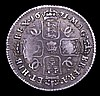 Shilling 1671 Plumes both sides ESC 1035 Fine or better the obverse with a dig in the field, the reverse with some weakness on the French shield and Irish shield