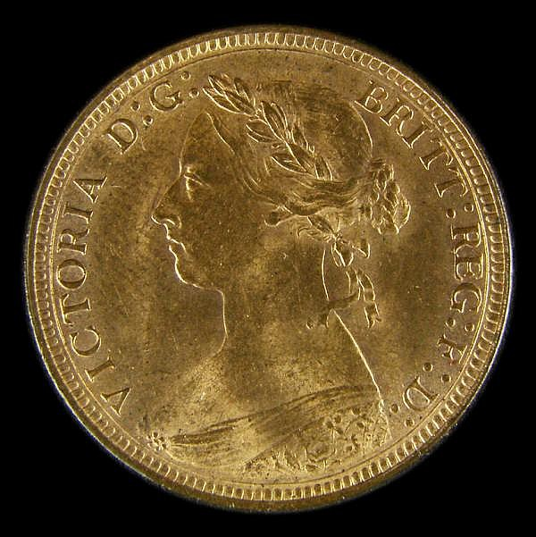 Halfpenny 1888 Freeman 359 dies 17+S Lustrous UNC, slabbed and graded LCGS 82