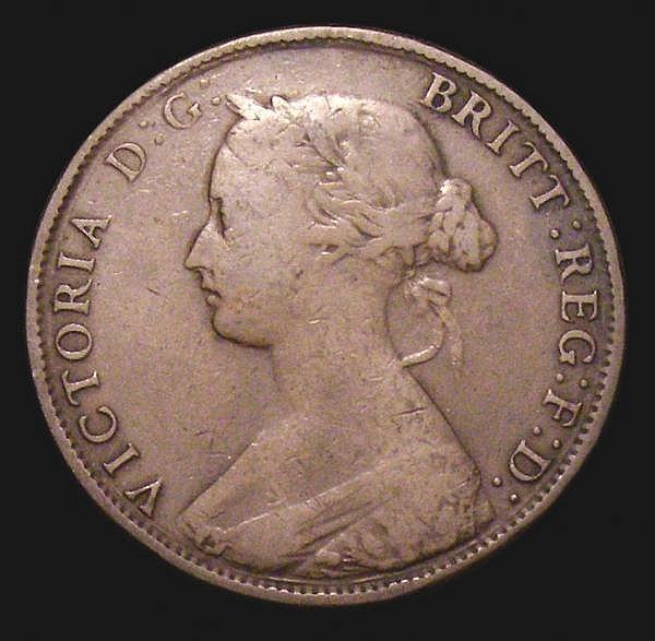 Halfpenny 1862 Die Letter A Freeman 290A dies 7+G VG or slightly better