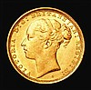 Sovereign 1887S Young Head, George and the Dragon, Marsh 124 EF and lustrous