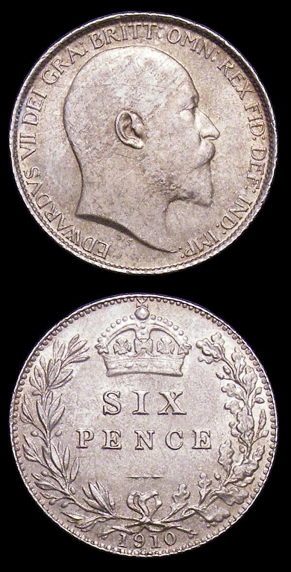 Sixpences (2) 1902 Matte Proof ESC 1786 nFDC, 1910 ESC 1794 UNC and pleasantly toned