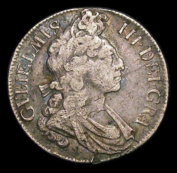 Shilling 1698 Fourth Bust, Flaming hair, ESC 1115 NF/VG with some old scratches