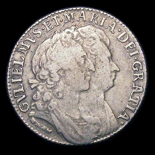 Shilling 1692 ESC 1075 Fine or slightly better#