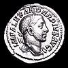 Severus Alexander.  Ar denarius.  C,  231-235 AD.  Rev; PROVIDENTIA AVG, Providentia standing facing, head left, holding grain ears over modius and cornucopiae. RIC 250. Nice surfaces.  3.16g.  VF