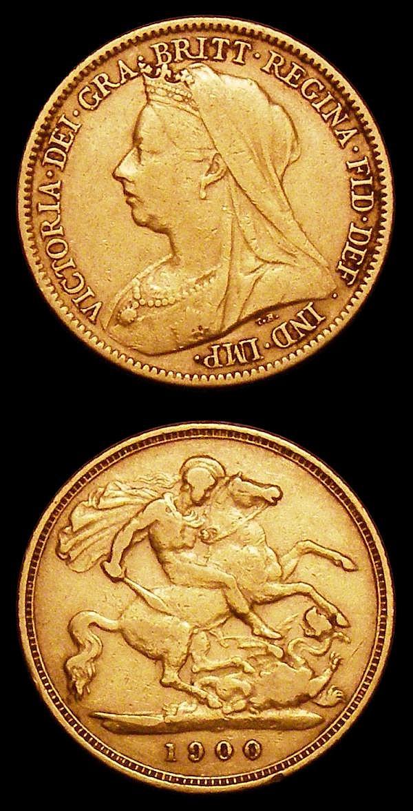 Half Sovereigns (2) 1900 Marsh 495 Fine, 1905 Marsh 508 VF