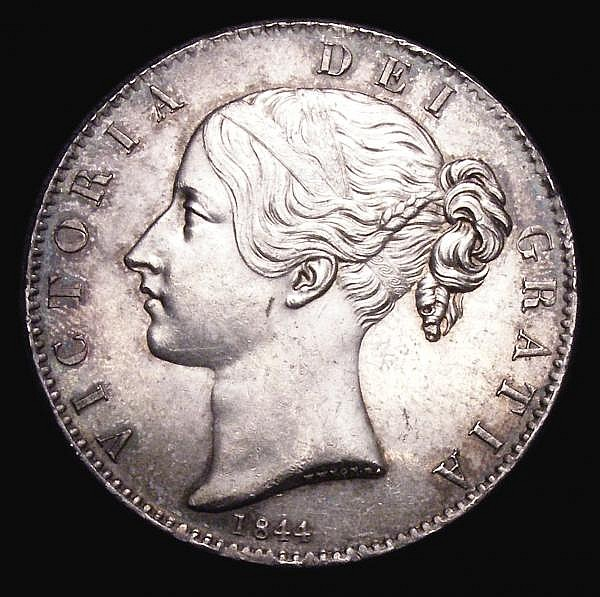Crown 1844 Star Stops on edge ESC 280 GEF/EF the obverse with some contact marks, scarce in this high grade