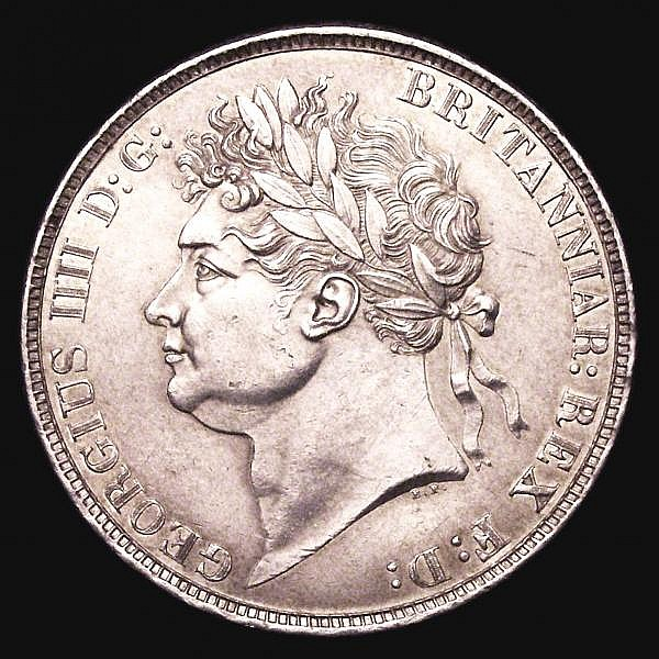 Crown 1821 SECUNDO ESC 246 EF lightly cleaned the obverse with some surface marks the reverse with hairlines