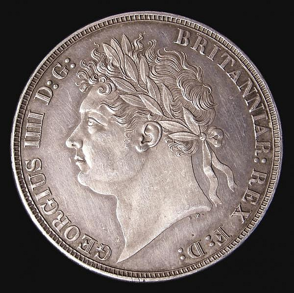 Crown 1821 SECUNDO ESC 246 A/UNC with an attractive grey tone, slabbed and graded CGS 75