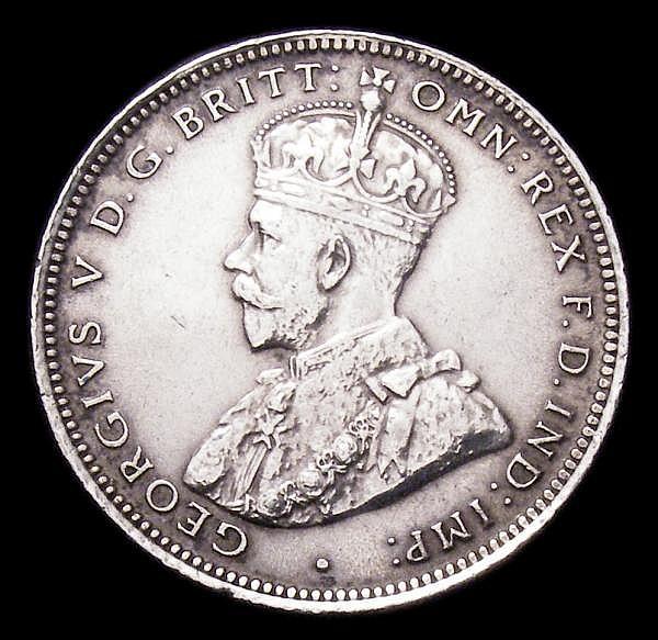 Australia Shilling 1913 KM#26 Bright VF