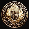 Two Pounds 1989 500th Anniversary of the First Gold Sovereign Proof nFDC with minor hairlines
