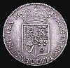 Halfcrown 1689 First Shield, Caul only frosted, no pearls ESC 506 VF with a pleasing grey tone