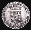 Halfcrown 1689 Second Shield, Caul only frosted, with pearls, GVF/VF and bold