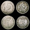 Maundy Set 1701 ESC 2392 comprising Fourpence VG, Threepence VF/NVF, Twopence NVF/GF, Penny NEF nicely toned