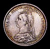 Sixpence 1888 ESC 1756 UNC with a choice and colourful tone