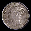 Sixpence 1883 ESC 1744 UNC with an attractive subtle tone, slabbed and graded LCGS 82