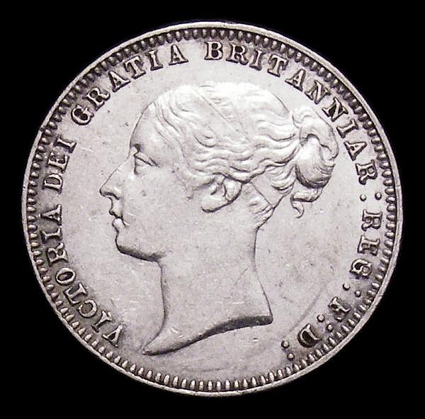 Sixpence 1879 ESC 1737 Davies 1094 dies 4C About EF with contact marks, a very rare die pairing