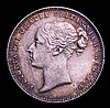 Sixpence 1878 ESC 1733 Die Number 27 the 7 of the die number appears overstruck, the underlying figure unclear, UNC and attractively toned